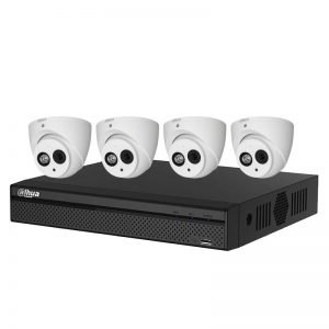 Dahua 6MP IP Dome (DH-IPC-HDW4631EMP-0208B) with 4Ch NVR (NVR4104HS-4P-4KS2 ) and 2TB HDD