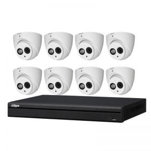 8 Dahua Starlight Turret Cameras (DH-IPC-HDW4631EMP-0208B) with 8Ch NVR (DHI-NVR4108HS-8P-4KS2) and 2TB HDD