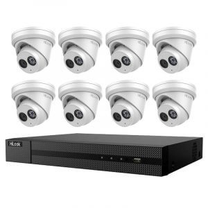 8 Turret Dome Cameras (IPC-T280H) with 8Ch NVR (NVR-108MH-C-8P) and 2TB HDD