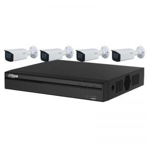4 Dahua 4MP IR Bullet Motorized (DH-IPC-HFW2431T-ZS-S2) with 4Ch NVR (DHI-NVR4104HS-4P-4KS2) and 2TB HDD