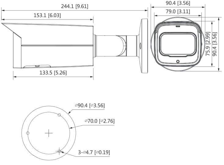 Dahua 4MP IR Bullet Motorized