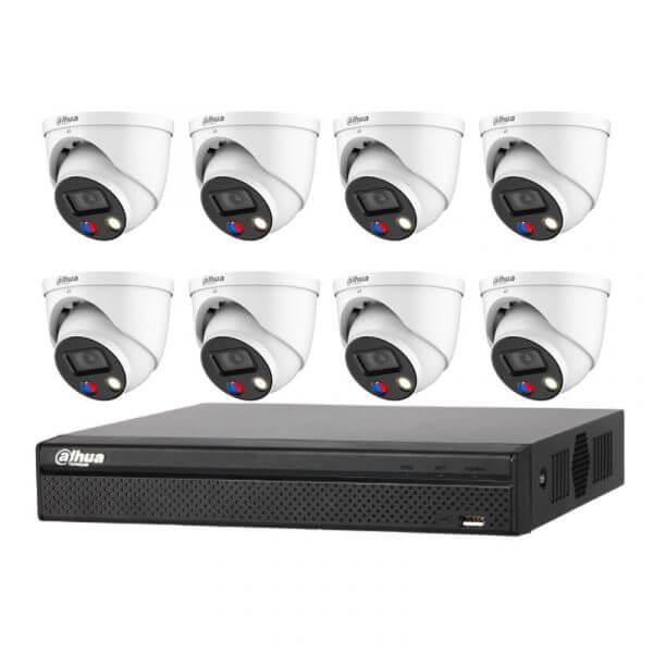 Dahua 5MP Full-color Eyeball with 8Ch NVR
