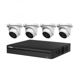 4 Dahua IMOU 6MP CCTV (IPC-T66A) with 4Ch NVR (NVR4104HS-4P-4KS2 ) and 2TB HDD