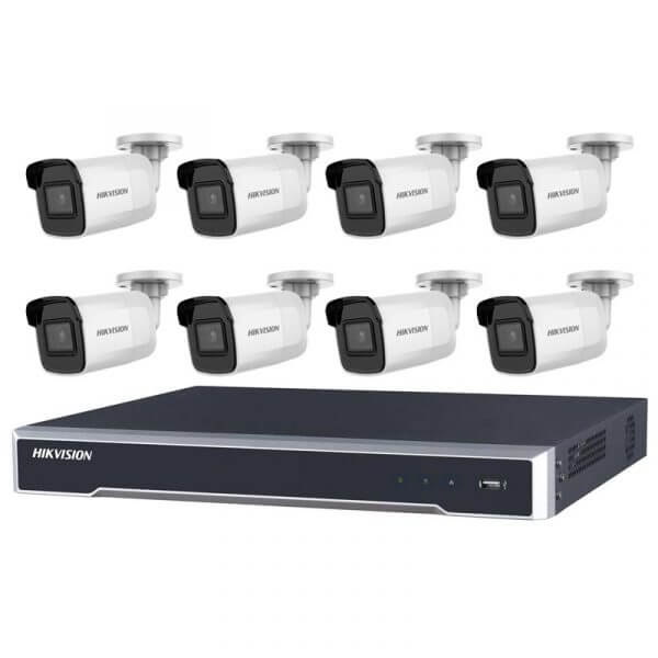Hikvision 6MP IR Fixed Bullet with 8Ch NVR