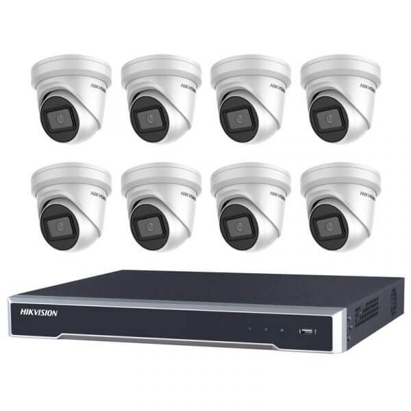 Hikvision 6MP IR Turret CCTV with 8Ch NVR