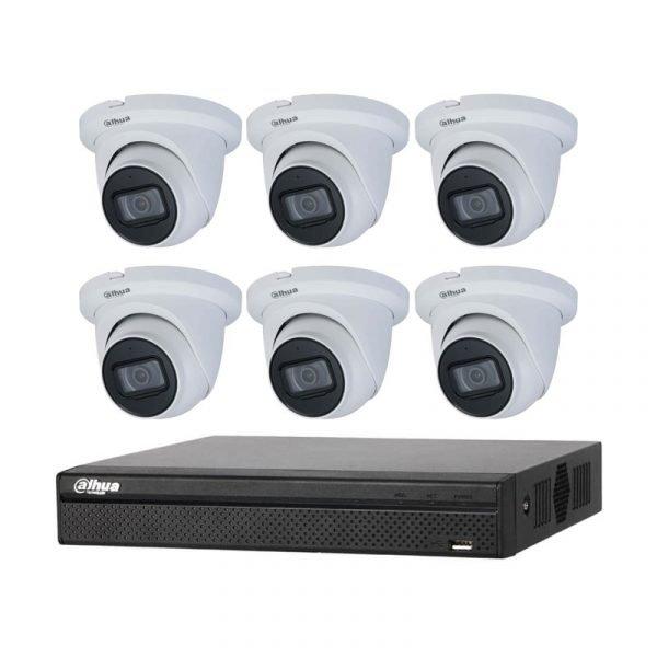 6 Dahua 4MP IR CCTV with NVR