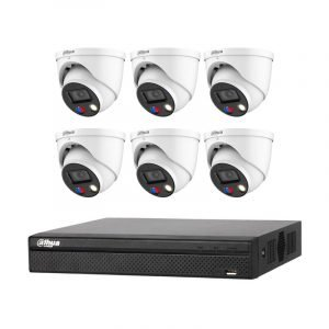 6 Dahua 5MP Full-color (IPC-HDW3549H-AS-PV) with 8Ch NVR (DHI-NVR4108HS-8P-4KS2) with 2Tb HDD