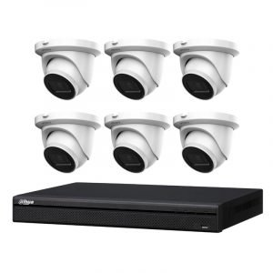 6 Dahua IMOU 6MP CCTV (IPC-T66A) with 8Ch NVR (NVR4108HS-8P-4KS2) and 2TB HDD