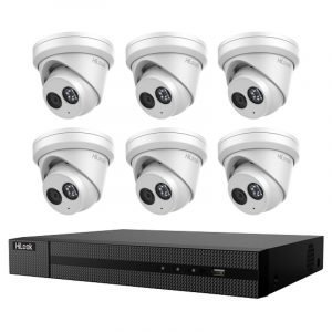 6 Turret Dome Cameras (IPC-T280H) with 8Ch NVR (NVR-108MH-C-8P) and 2TB HDD